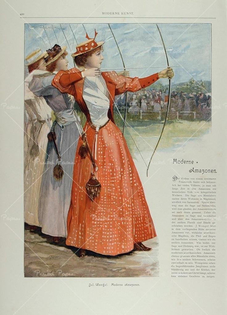 1899 ad print victorian women's archey