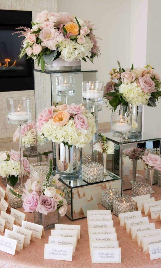 Wedding reception idea; Featured Florals: Stoneblossom Floral & Event Design