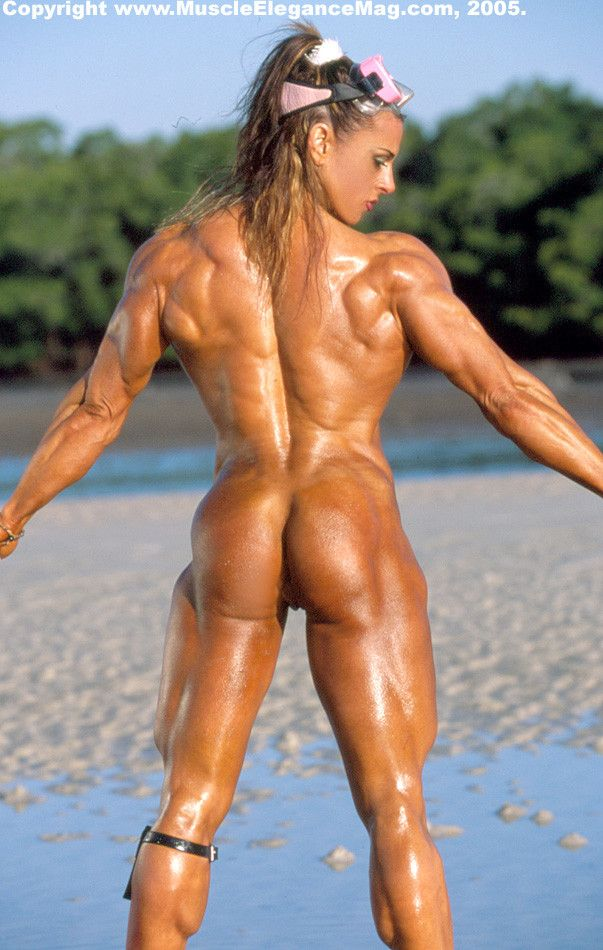 Female body builder butt nude