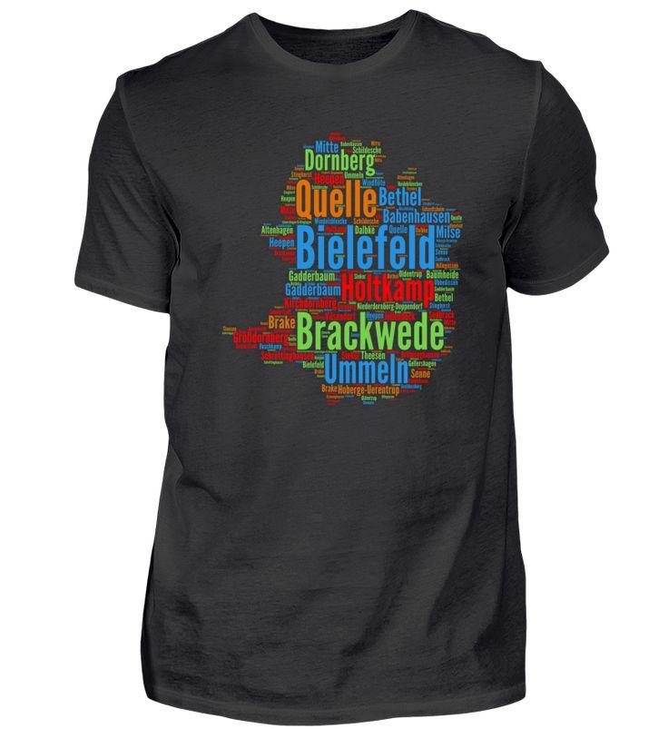 Bielefeld (Umriss der Stadt Bielefeld) T-Shirt