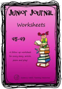 Junior Journal 45-49 worksheets for New Zealand reading programmes.