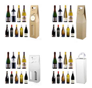Opakowania do wina i kosze prezentowe dla Firm: Ozdobne pudełko na alkohol