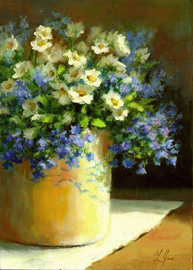 DPW Fine Art Friendly Auctions - Daises by Linda Jacobus