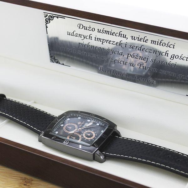 Zegarek męski Gino Rossi w eleganckim drewnianym etui z możliwością graweru Więcej informacji tutaj:  https://eprezenty.pl/source/186/64454/