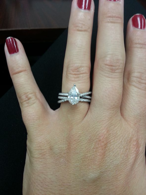 Found on Weddingbee.com Share your inspiration today! 1.6 ct pear