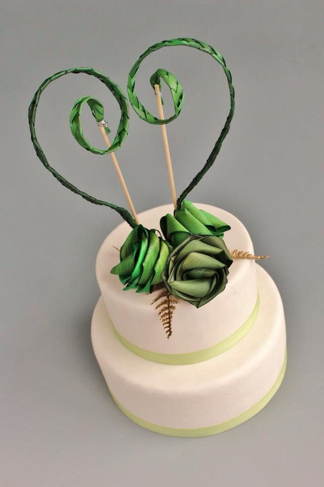 Koru flax cake topper. www.flaxation.co.nz