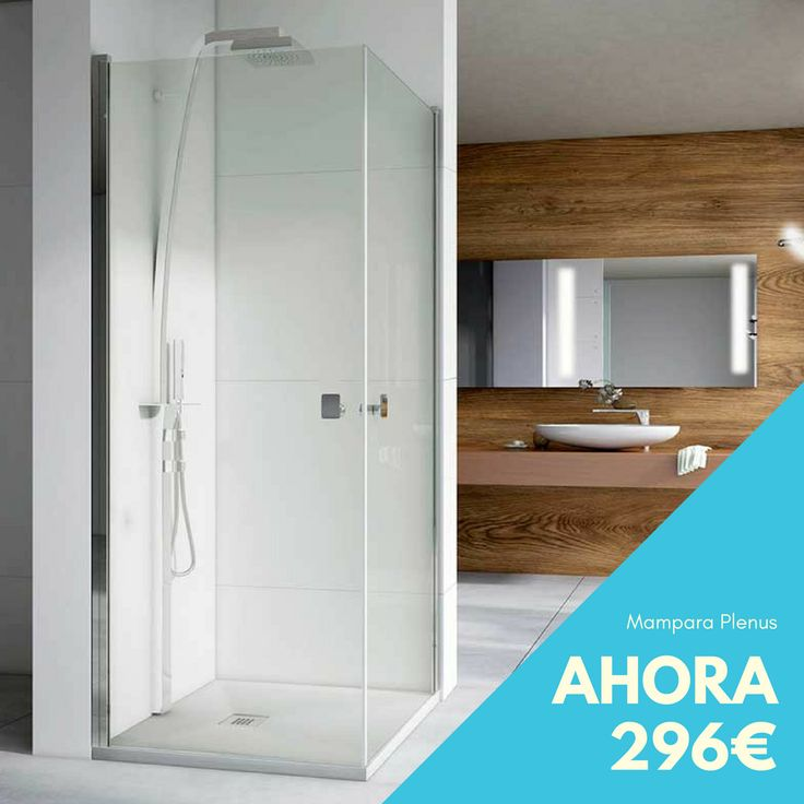 Mampara de ducha cuadrada con 2 puertas abatibles. Ahora sólo 296 €.  #rebajas #ofertas #mampara #ducha #baños #decoracion #interiordesign #interiorismo #hogar #remodelaciondebaños