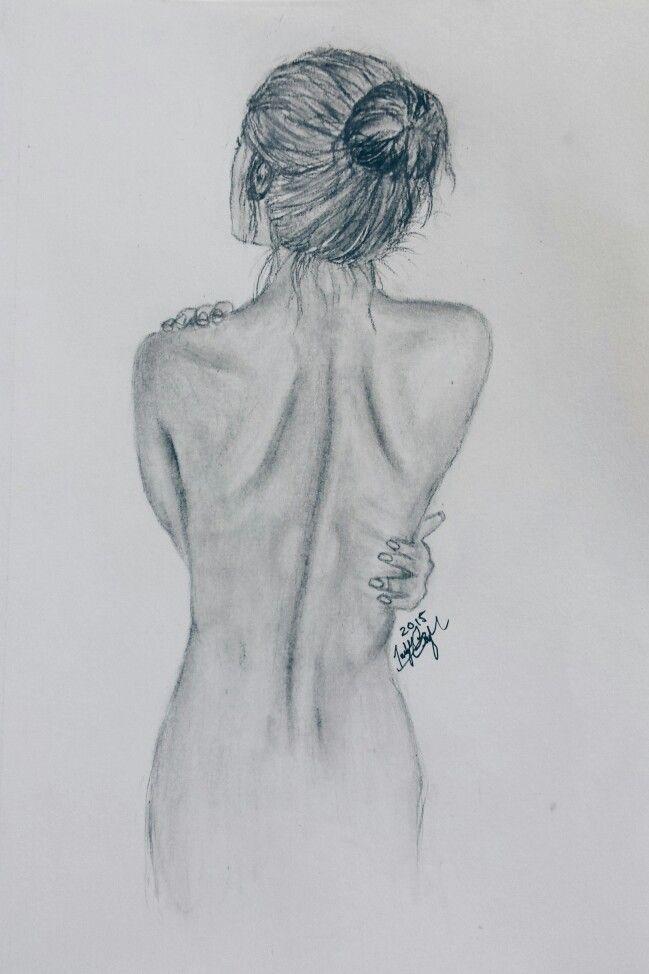 Нарисованные карандашом картинки со спины