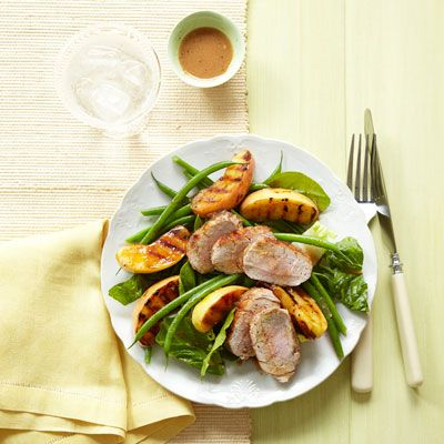 You'll want to make this main-dish Grilled Pork and Apple salad every weeknight, using in-season apples to give the dish a touch of sweetness. Click through for this and more of the best apple recipes.