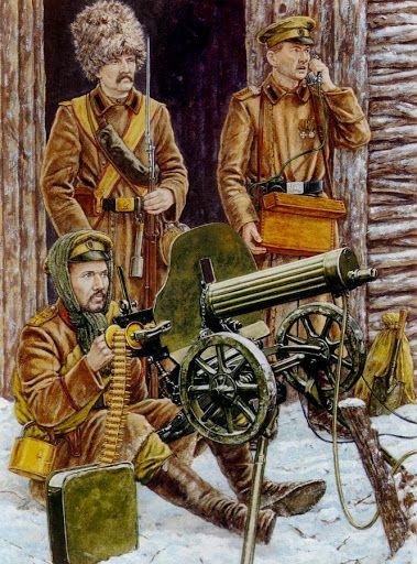 Guarnición de trinchera rusa