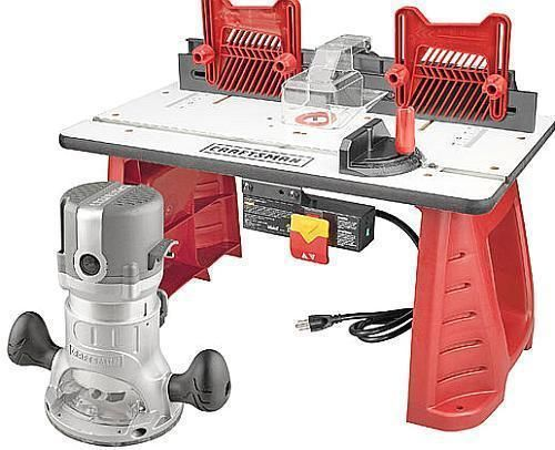 Craftsman Router and Router Table Combo Portable Wood Lumber Woodworking 37595 #Craftsman