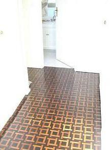 Haddon Hall motif of ebony and mopane. Dressing room