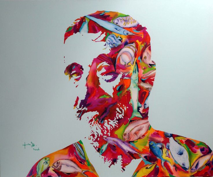 Dad portrait, acrylic on canvas 150x180cm, 2006