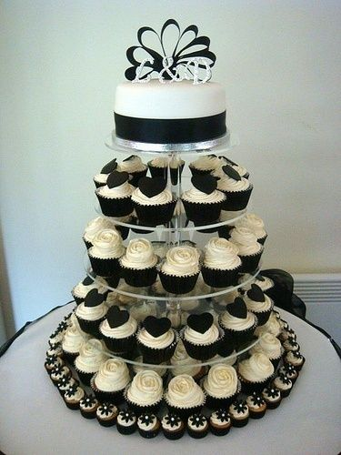 Many Brides Today Are Choosing To Serve Wedding Cupcake Towers At Their Receptions In Lieu Of The Traditional Cake Cupcakes Can Be Elegant