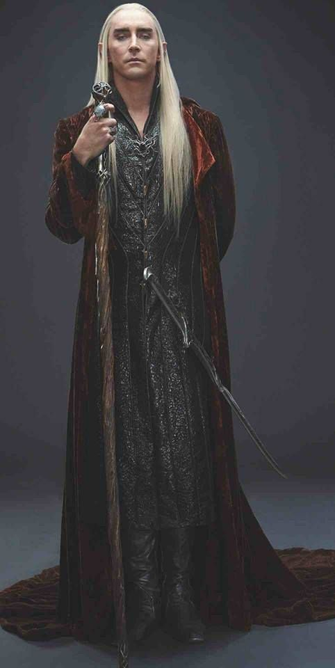 "I am in love with the costumes from these films and Thranduil's are becoming a fast favorite. They perfectly encapsulate his power and prestige, but have an underlining of murkiness - he's a grey character and his ""look"" captures that."