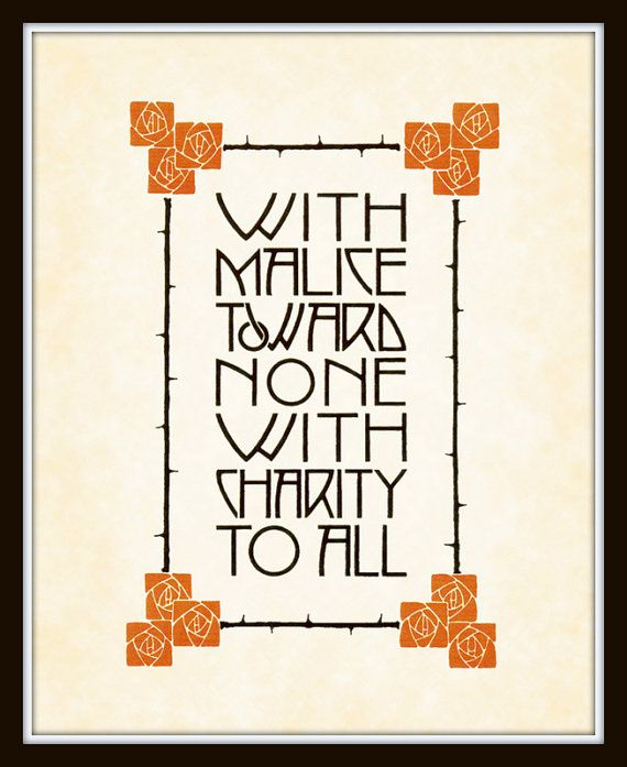 Vintage arts and crafts mission style quote art by for Arts and crafts style prints