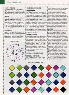GRÁFICOS: clique na imagem para ampliar: GR1 Colcha de crochê arco-íris