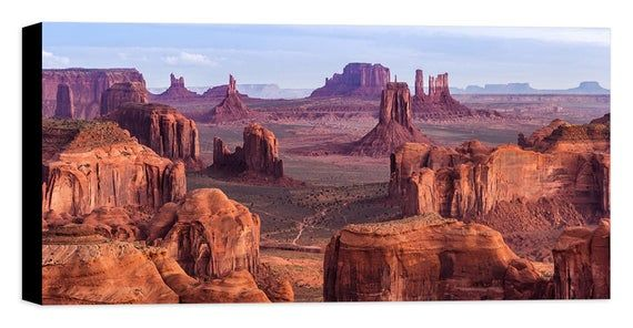 Monument Valley Canvas Wall Art Framed Print Various Sizes Etsy In 2020 Monument Valley Arizona Monument Valley National Parks