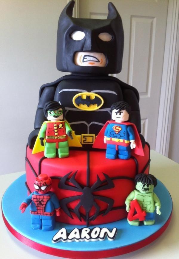 Best Batman Images On Pinterest Superhero Cake Cakes And - Lego batman birthday cake