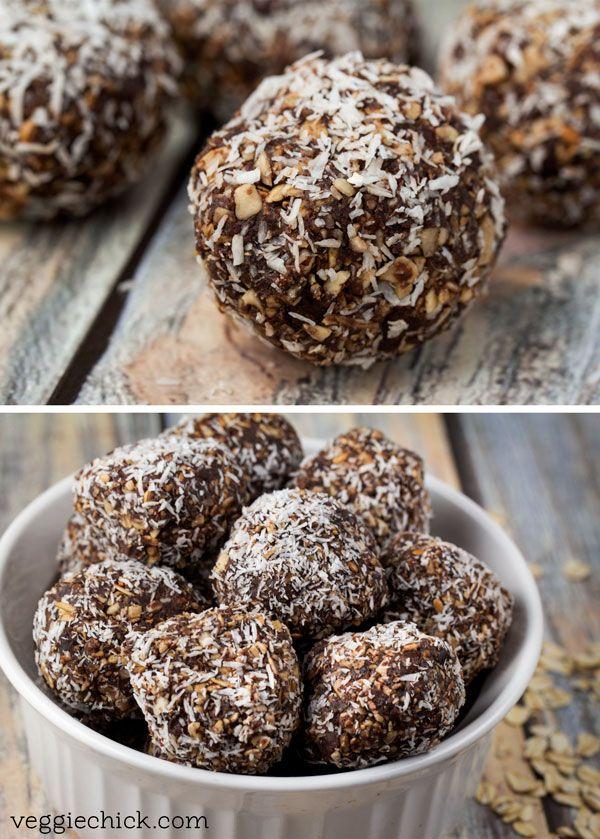 No-bake, no sugar Chocolate Coconut Energy Bites