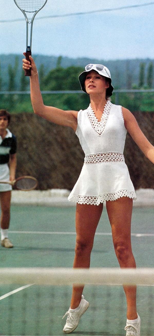 Vintage Knitting Crochet Pattern Peek A Boo Mini Dress Tennis Beach Cover Up PDF. $3,50, via Etsy.