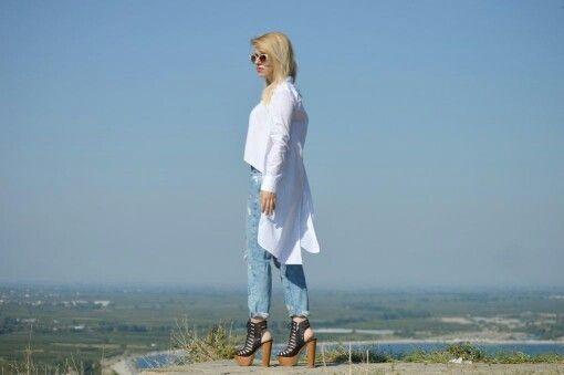 #zara #vasilikicomgr #vasiliki #fashionbloggers #tsakirismallas #shirt #jean