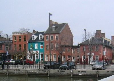 Fells Point, Baltimore  My neighborhood in the 80's!  I met my now husband in the blue building - The Cat's Eye!