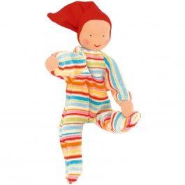 Nicki Baby Waldorf Doll - Striped
