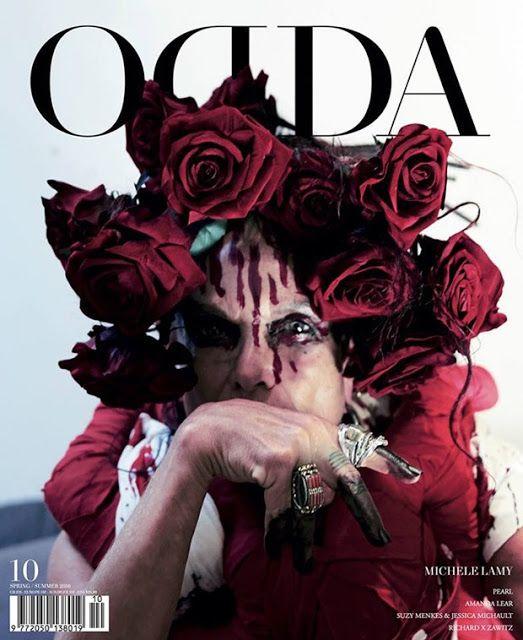Tie-Xue-Yan-Yun-Shi-Ba-棋™: Michele Lamy in Comme des Garcons for ODDA Magazin...
