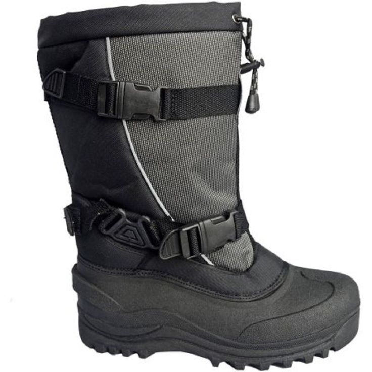 Cold Front Women's Sled Cat Buckle Winter Boot, Black/Grey, 13