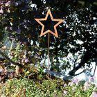 Gartenstab Dekostab Gartenstecker 120cm Stern Rost Metall Gartendeko Beetstecker