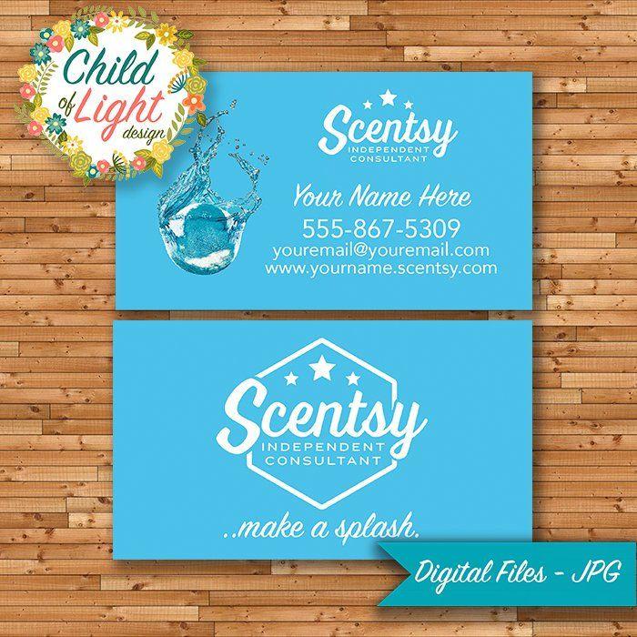 Authorized Scentsy Vendor Business Cards Custom Business Card Blue Bathbomb Make A Splash Printing Business Cards Custom Business Cards Personal Cards