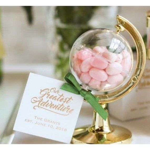 The Globe Gold Coated Container X2 Etsy In 2020 Wedding Gifts For Bride And Groom Best Wedding Favors Wedding Gifts For Bride