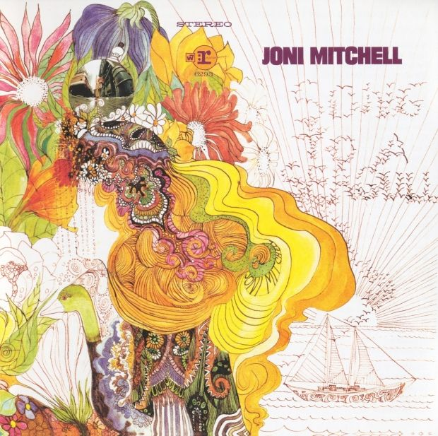 Joni Mitchell, artwork for her debut album Song to a Seagull, 1968.