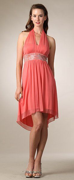 17 best images about coral dresses on pinterest formal for Plus size coral dress for wedding