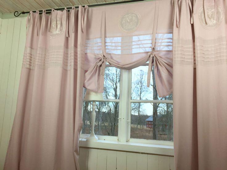 LillaBelle MATHILDE Mauve Vorhang Gardine 115x240 Rosa Shabby Landhaus Curtain In Mbel Wohnen Rollos