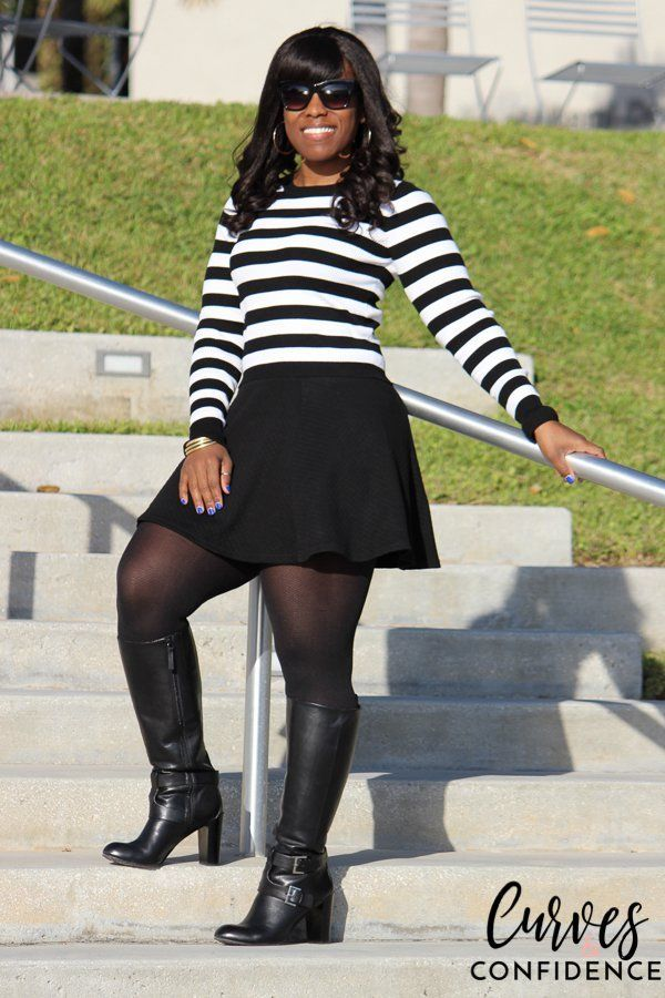 Curves and Confidence: How to Wear a Skater Skirt in the Winter