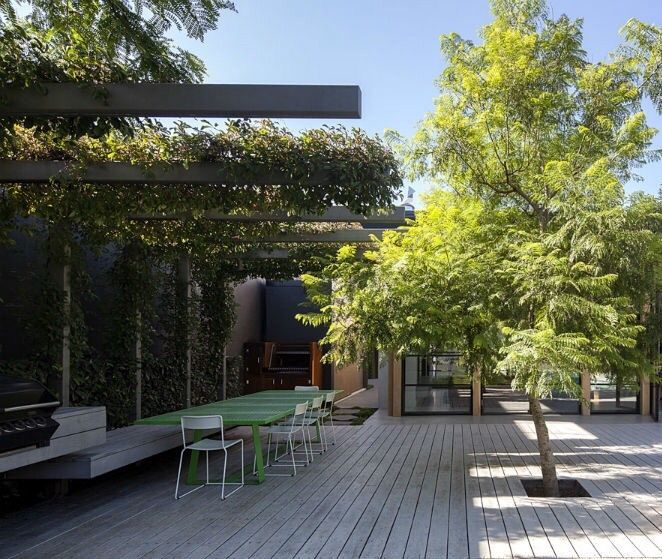 Steel l shaped pergola neil architecture deck for L shaped pergola