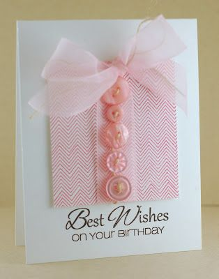 Button birthday card