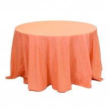 "108"" Round Table Linens - Coral"