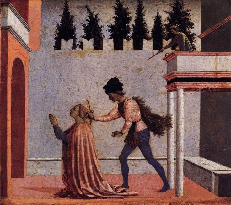Мученичество святой Лючии. 1445 г.Доменико Венециано. Темпера по дереву. Государственные музеи, Берлин.