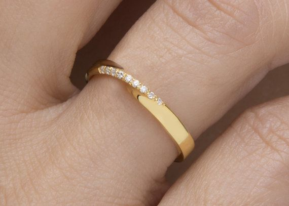 Anillo Mobius anillo de diamantes mobius anillo mobius Pave