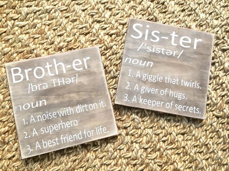 Brother Definition,Sister Definition,Kids Decor,Kids room,Nursery,Siblings,Rustic decor,Nursery Wall Decor,Brother Wall Art,Sister wall art by SplendidExpressions on Etsy