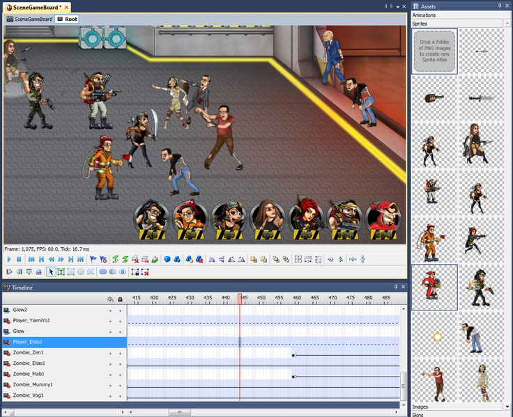Coconut2D IDE:  making of CocoTeam vs Zombies sample game