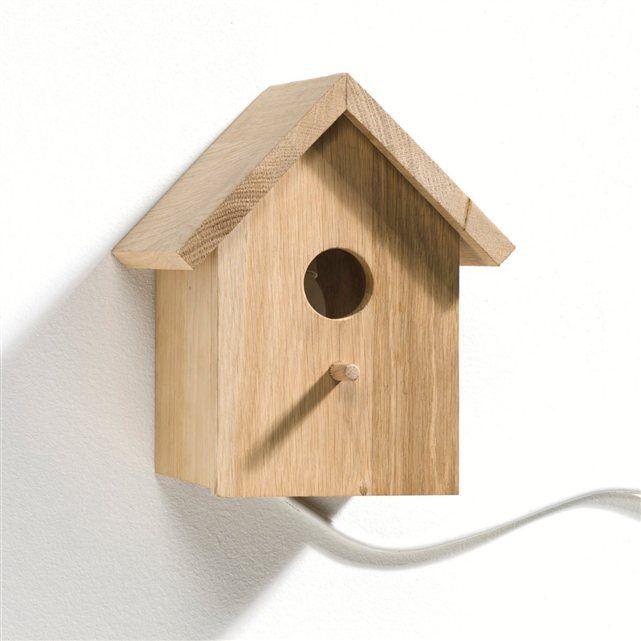 Applique nichoir Fifi AM.PM : prix, avis & notation, livraison. En forme de nichoir à oiseaux, cette applique très déco donnera un esprit très nature à une chambre d'enfant. En chêne massif. Douille E14, ampoule fluocompacte 11 W non fournie. L. 21 x P.16,5 x H.23,5 cm.