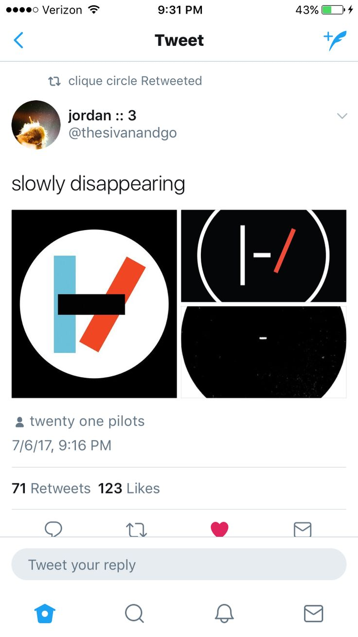 You don't have to be scared. You should be happy for Tyler and Josh cause they are finally defeating their deamons