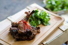 Chargrilled saltmarsh lamb marinade (agneau de pré-salé au grill) Luke Nguyen's Fance