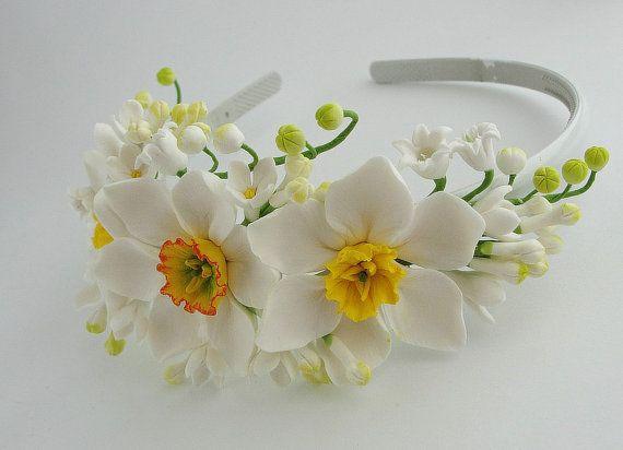 bridal hair accessories wedding headpiece от FlowerFromEugene