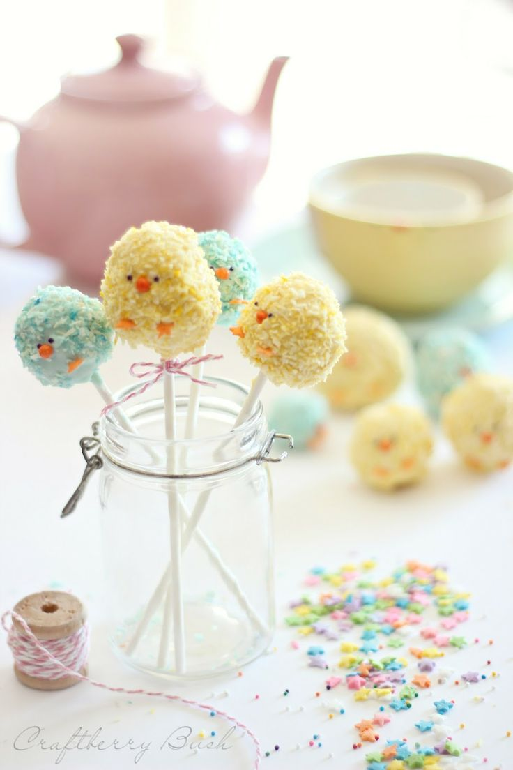 Easter Chicks rice krispies pops