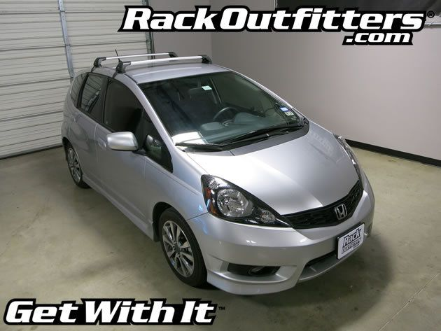 Honda Fit Sport Whispbar Silver Flush Bar Base Roof Rack 09 14 Honda Fit Sport Honda Fit Roof Rack